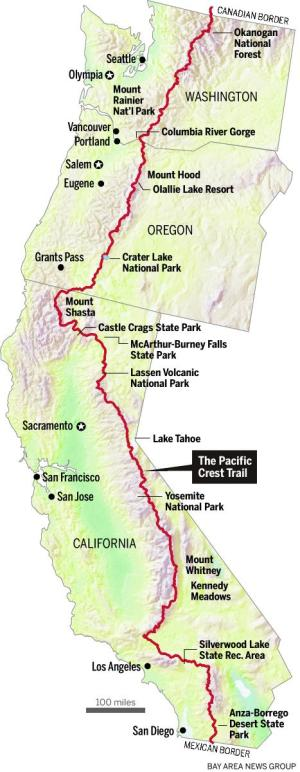Beautiful Map Of The Pacific Crest Trail Pics - Printable Map - New ...